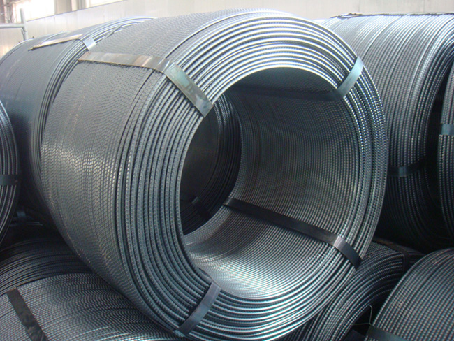 Cold rolled ribbed steel coil